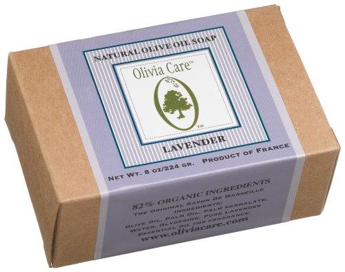 Olivia Care Olive Oil Soap , Lavender, 8 Ounce Box