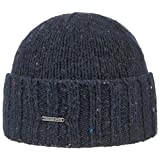 Stetson Wool Cashmere Beanie Hat Men Blue-Mottled One Size