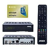 Apebox C2 4K UHD 2160p Câble satellite Combo DVB-S2X & DVB-T2/C Récepteur multistream Convient pour Tivusat Mediaset IPTV Récepteur multimédia avec carte TIVUSAT activée