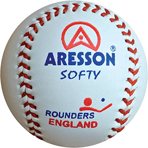 Aresson Vision Wooden Rounders Baseball Bat Non Slip Grip Orange Pink or Red