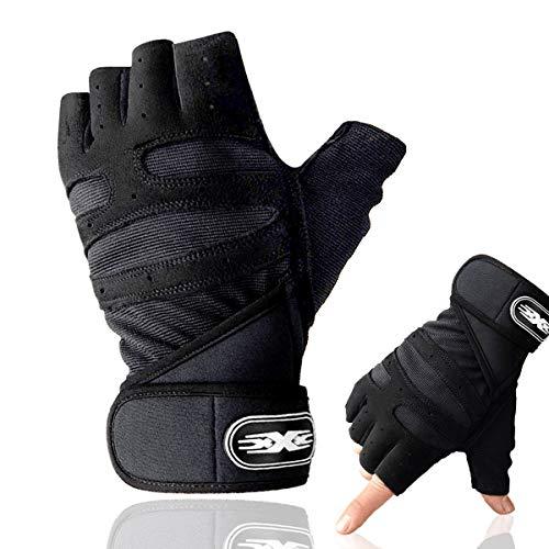 Maxee Fitness Handschuhe,Trainings Handschuhe für Damen und Herren,Workout Lifting Glove,Handschuhe mit Handgelenkstütze,Atmungsaktive rutschfeste Trainingshandschuhe Sport (XL)