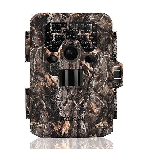 TEC.BEAN 12 MP HD 1080P Wildkamera, wasserdicht, Infrarot-Überwachung, ohne Helligkeit, mit 36 IR LEDs, Nachtsicht bis 23 m (SG-009)