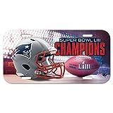Wincraft NFL New England Patriots Super Bowl 2019 License Plate Champions Schild