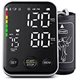 DOUHAO Blood Pressure Monitor Automatic Upper Arm BP Cuff Machine with LED Backlight Display Accurate Digital BP Meter with 2 Users 240 Sets Memory Irregular Heartbeat Detector