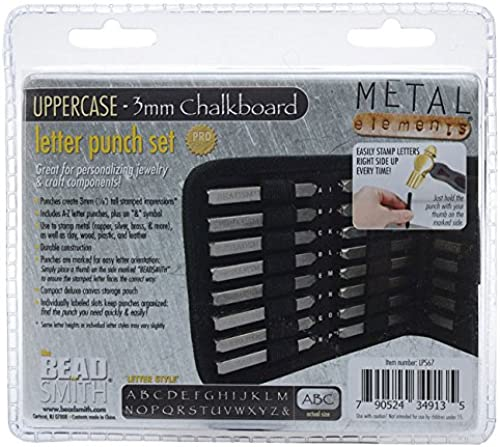 Chalkboard Ltr Set Upper, Case Punch 27 Pc (3mm) - LPS67 by Beadsmith