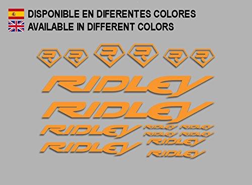 Ecoshirt 9U-5Q5B-ZBEW Aufkleber Ridley Bike F133 Stickers Aufkleber Decals Autocollants Adesivi, Orange