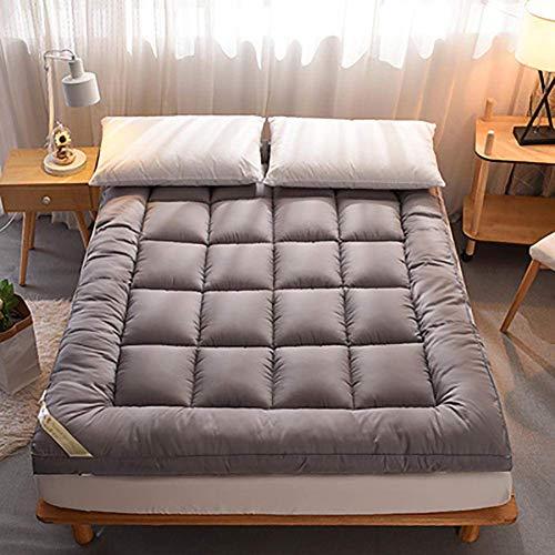 ZLJ Colchón de Suelo japonés Alfombra de Suelo para Dormir Transpirable Alfombrilla de Tatami Shikibuton colchón de futón de algodón 100% Gris 150x200cm (59x79inch)