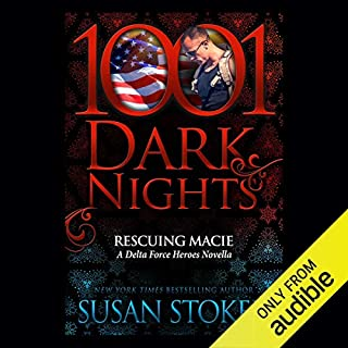 Rescuing Macie     A Delta Force Heroes Novella - 1001 Dark Nights              Auteur(s):                                                                                                                                 Susan Stoker                               Narrateur(s):                                                                                                                                 Stella Bloom                      Durée: 3 h et 47 min     Pas de évaluations     Au global 0,0