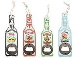 Abrebotellas de Madera en Forma de Botella Diseño'Tropical' (Precio Unitario) - Abridores, abre botellas originales y baratos para Detalles, recuerdos y Regalos de Bodas, Bautizos y Comuniones