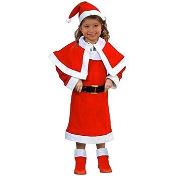Atosa-69207 Disfraz Mamá Noel Niña Infantil, color rojo, 5 a 6 ...