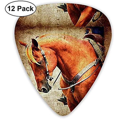 Western Horse Grunge Classic Gitaar Picks (12 Pack) voor Elektrische Gitaar, Akoestische Gitaar, Mandoline en Bas