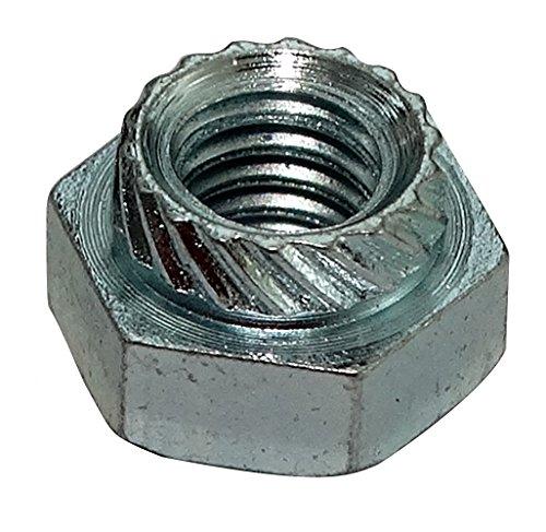 Aerzetix: 10 x zeskantmoer voor het krimpen M4 7 mm H4,5 mm verzinkt staal voor plaat 2 mm + C19158