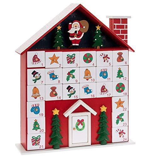 Leonardo Hütte Haus Weihnachtsmann Holz Weihnachten Adventskalender 36cm Hoch