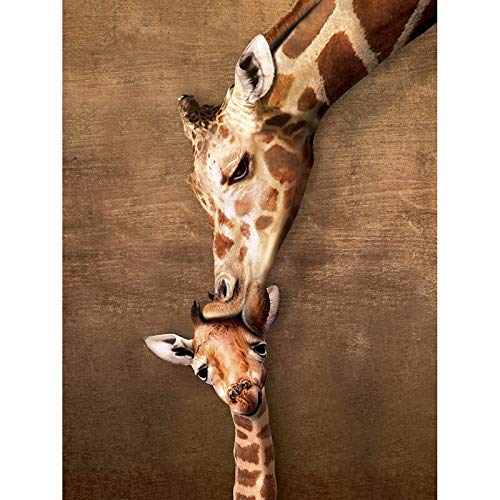 DIY 5d 100% Full 5d DIY Daimond Painting Cross Stitch Giraffe Family 3D Diamond Painting Full Rhinestone Painting Embroidery Round Drill 40x30cm