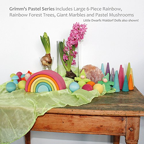 Grimm's Sortierspiel Regenbogen Pilze, pastell - 8