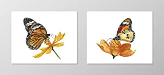 Watercolor butterfly #A087 - set of 2 art prints(8x10).Monarch butterfly poster.Wall art.Butterfly art print.Butterfly pictures.Butterfly painting.Bedroom wall art.