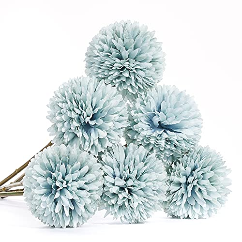 PartyWoo Artificial Flowers 9352 - 6 pezzi, colore: Blu
