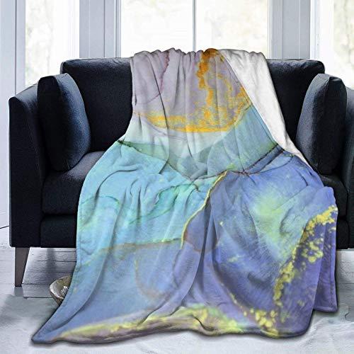 Manta personalizada personalizada, pintura de tinta abstracta, primer plano de la pintura, suave y cómoda manta de felpa para sofá, dormitorio, viaje, manta esponjosa de 101 x 122 cm