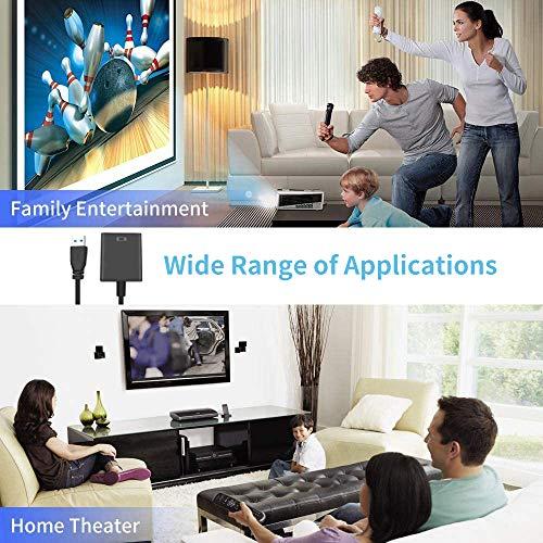 HAL USB 3.0/2.0 zu HDMI Adapter, Full HD 1080P Video und Audio Multi Monitor Grafikkabel Konverter für PC Laptop Projektor HDTV Kompatibel mit Windows XP 7/8 / 8.1/10 (NO MAC & Vista) - Schwarz