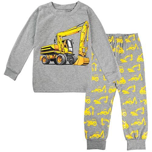 Schlafanzug mit Cartoon-Print, 2-teilig, Baumwolle, Kleinkinder Jungen (1-5 Jahren)...