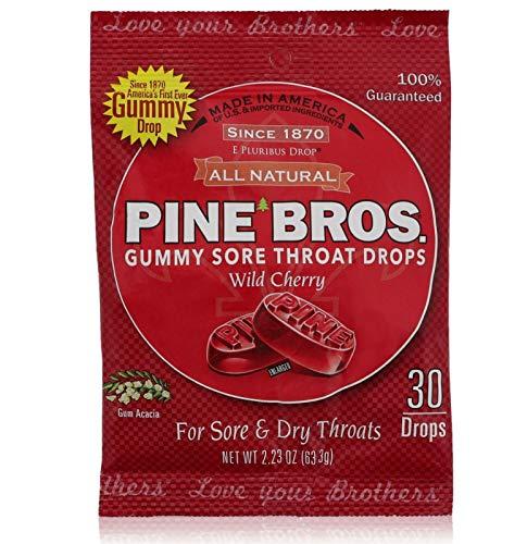 Pine Bros. Softish Throat Drops Wild Cherry - 30 Drops (Pack of 6)