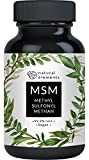 MSM Kapseln - Vergleichssieger 2020* - 365 vegane Kapseln - Laborgeprüft - 1600mg Methylsulfonylmethan (MSM) Pulver pro Tagesdosis - Ohne...