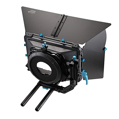 FOTGA Professionele Matte Box Swing Away Zonnescherm voor 15 mm staaf DSLR Rigs Matte doos Kit met Universele Lens Donut Set