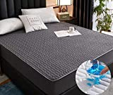 XLMHZP Sábanas ajustables extra profundas, gruesas y acolchadas, suaves, sábanas elásticas, cómodas, para cama individual, matrimonial, reina, king-c_180 x 220 cm+30 cm