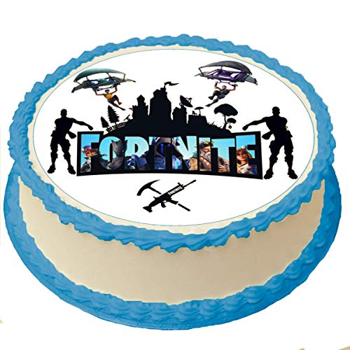 Battle Royale Cake Toppers Icing Sugar Paper 8 Inches Diameter Sheet Edible Frosting Photo Birthday Cake Topper (Best Quality Printing)