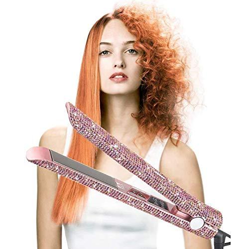 Fantastic Deal! Shhjjpy Diamond Straightener Hair Curler Fast Roll Straight 2 in 1 Straight Hair Spl...