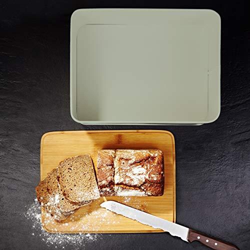 Lumaland Bread Bin with Bamboo Lid - Mint Green
