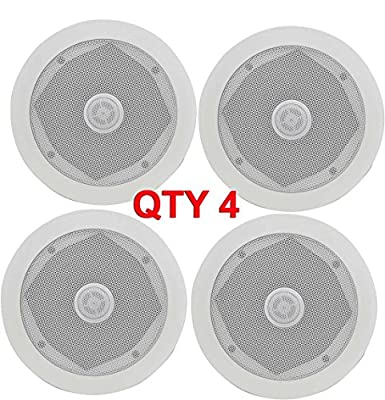 "4x CEILING WALL SURROUND SOUND SPEAKERS 80W EASY FIT 5.25"" 13cm Sonos 952.528 B from Commsandsound"