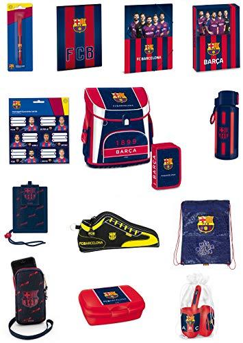 FCB Exclusiv* 18tlg. FC Barcelona Schulranzen Set Kinder Schulranzen 41x33x24cm mit Magnetverschluss EDEL & NEU