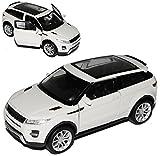 Welly Land Rover Range Rover Evoque de 3 puertas, color blanco, a partir de 2011 aprox. 1/43 1/36 – 1/46, modelo de coche
