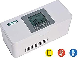 3 Degrees of Alarm System, Insulin Cooler Refrigerated Case, 5L Portable Cold Storage Box for Keeping Diabetes, Medication2-8 Degrees Travel, Medicine Cooler Reefer Container with 8000MA Long Hours St
