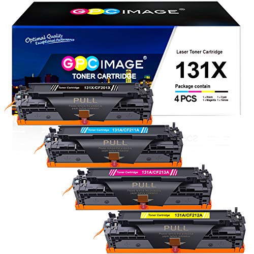 GPC Image 131X 131A Kompatibel Toner Patronen Ersatz für HP CF210X CF211A CF213A CF212A für HP Laserjet Pro 200 Color M251n M251nw MFP M276n M276nw, 4-Pack (1 Schwarz, 1 Cyan, 1 Magenta, 1 Gelb)