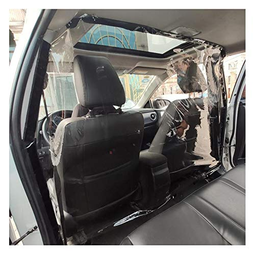 ZXLIFE@@ Autotaxi-Isolationsfilm, Autoschutzfilm für Fahrer, einstellbare Größe, Keine Beeinträchtigung der Sicht, Vermeidung von Kreuzinfektionen, für alle Autos,1.8x2.4m