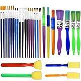 NATUCE 30PCS Pinceles para Pintar, Herramientas de Dibujo para Niños, Pinceles de Pintura para...