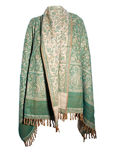 Manta decorativa de lujo hecha a mano, hecha a mano, color verde claro