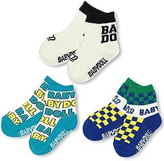 BABYDOLL(ベビードール) 3Pクルーソックスセット(靴下3足セット)-子供服 男の子 女の子 雑貨 3足組 レッグウェア ベビー キッズ -0321
