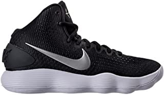 san francisco 541fb 8c48e NIKE Women s Hyperdunk 2017 TB Basketball Shoe Black Metallic Silver White  Size 13 M