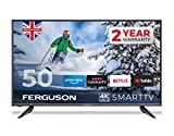 "Ferguson 50"" 4K Ultra HD LED Smart TV With Wi-Fi, Netflix, Youtube, Prime, Catch Up TV, 3 x HDMI & USB Recording - British Manufacturer - F50RTS4K"