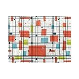 500 Piezas Jigs Puzzle Abstract Mid Century Modern Grid Regalos Hechos a Mano Juego de Rompecabezas para Bodas, graduación, Adultos, niños