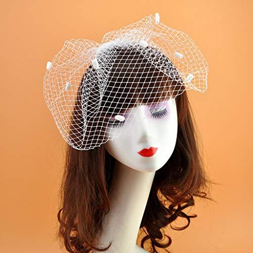YO-HAPPY Vintage Mesdames élégant Maille Trou Pince à Cheveux, Couleur Unie Classique, Bandeau, fête