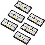 Amoy Accesorios de filtros para iRobot Roomba serie 800 y 900 980 966 960 865 870 875 876 Recambios, 6 piezas