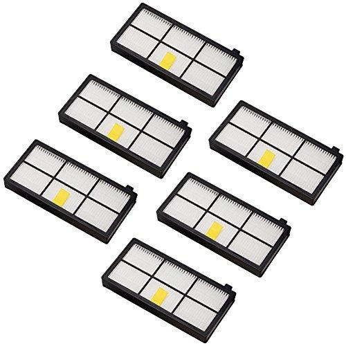 filtres de remplacement pour iRobot Roomba Série 800et 900980966960865870875876de pièces de rechange, 6
