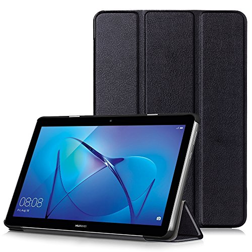 HUAWEI MediaPad T3 10 Case - Ultra Slim Lightweight Smart Shell Stand Cover Case for HUAWEI MediaPad T3 10 9.6-Inch Tablet 2017 Release, Black