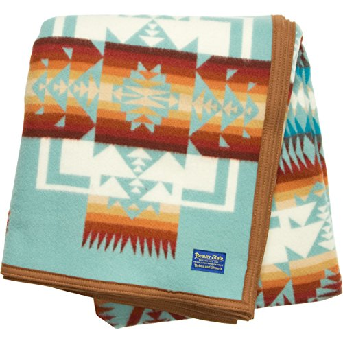 Pendleton Women's Chief Joseph Robe Blanket Aqua, Twin
