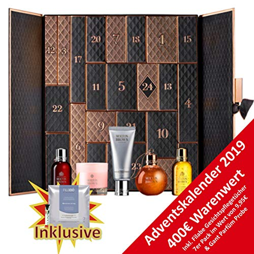 Calendario de Adviento 2019 de Molton Brown, para mujer, valor de 400 €, calendario de cosméticos con 24 x belleza para mujer, calendario de adviento para mujer