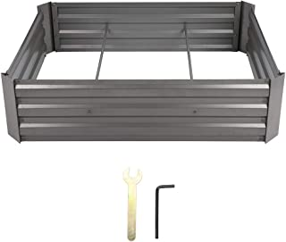 Metal Raised Garden Bed Open Base Anti Decay Planting Bed for Gardening Household